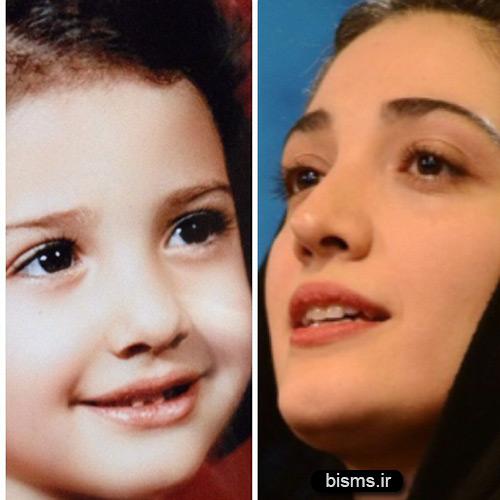 عکس کودکی مینا ساداتی