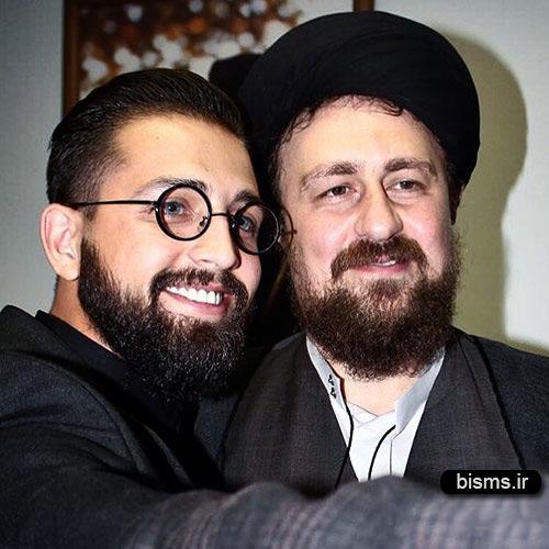 محسن افشانی در کنار سید حسن خمینی
