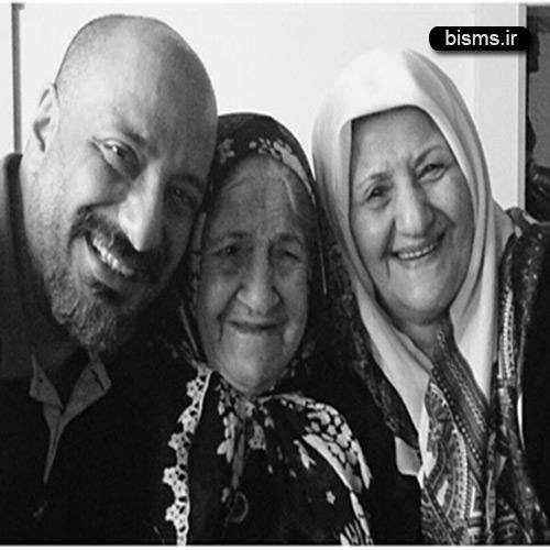 عکس امیر جعفری در کنار مادر و مادربزرگش