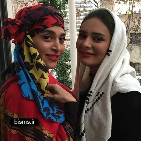 عکس خوابیدن لیندا کیانی در حرم امام رضا