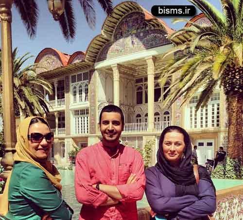بازیگران در باغ ارم شیراز